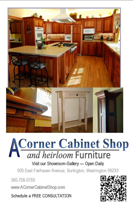 A Corner Cabinet Shop a division of Finn Homes Inc 360.708.0789