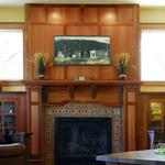 A Corner Cabinet Shop - Finn Homes Inc 360.708.0789 Mission Style Fireplace Material: Lyptus